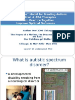 "A ""Best Practices"" Model for Treating Autism"