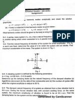 Question Paper  Mechanical Vibrations