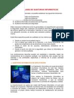 TIPOS Y CLASES DE AUDITORIAS INFORMÁTICAS