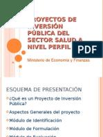 Proyectos de Inversion Publica en El Sector Salud