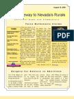 Volume 1 Number 6 Nye - Gateway to Nevada's Rurals Newsletter August 15, 2009