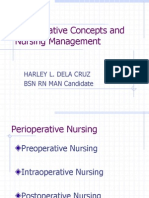 Perioperative Concepts and Nursing Management