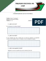 Cuestionario de Cálculo Vectorial
