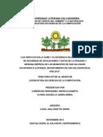 Los Servicios en la Nube y su incidencia de las Estrategias de Seguridad de Aplicaciones y Datos de la Pequeña y Mediana Empresa de los Municipios de San Salvador, Soyapango e Ilopango, Departamento de San Salvador en el año 2013