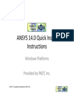 ANSYS 14 Install Quick Guide