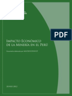 PDF Impacto Ecomonico de Actividad Minera en El Peru Junio 2012