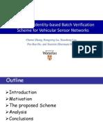 [Ppt] an Efficient Identity-Based Batch Verification Scheme for Vehicular Sensor Networks
