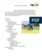 Cricket Revolution Manual