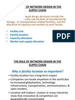 The Role of Network Design in the Supply Chain