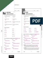 Math Answers and Wb