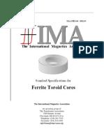 Standard Spec for Ferrite Toroid Cores