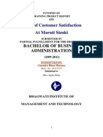 Customer Satisfaction Survey for Maruti Suzuki