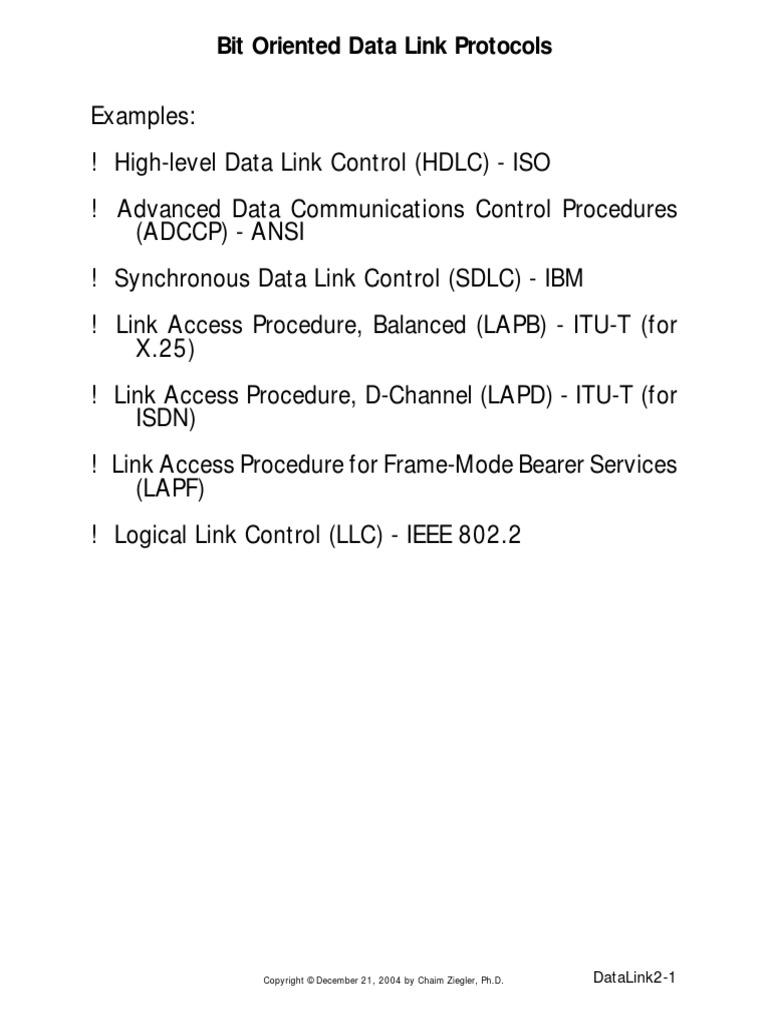Bit Oriented Protocols | Data | Computer Data