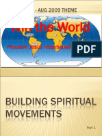 Building Spiritual Movements - Session 1