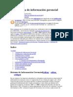 SIG Sistema de información gerencial