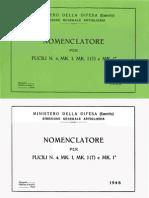 Nomenclatore Per Fucili N4 MK-1 MK-1T e MK-1 - 1948