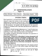 Civils Mains 2012 - Public Administration Question Paper