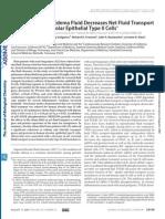 Acute Lung Injury Edema Fluid Decreases Net Fluid Transport Across Human Alveolar Epithelial Type II Cells
