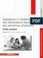 Assistance à l'établissement des déclarations fiscales des personnes physiques