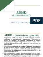 ADHD Mituri Si Realitate