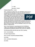 Let'sTalkBitcoin Transcription - Episode 09 - Bitcoin 2013 Kickoff!