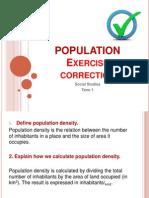 population  exercises