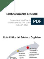 Estatuto Orgánico de CIDOB