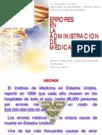 Errores en la Administración de Medicamentos en Anestesia