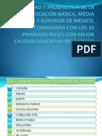 Realidady prospectiva de la educación en México