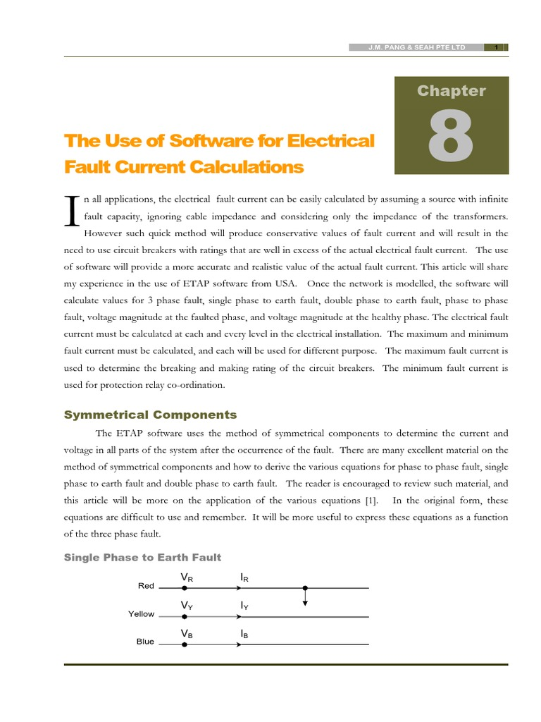 Chapter 8 Etap Example Electrical Impedance Electric Generator Relay Breaking Current