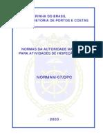 Normas da autoridade marítima para atividades de inspeção naval