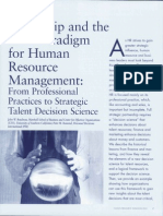 Talentship and the New Paradigm for Human Resource Management