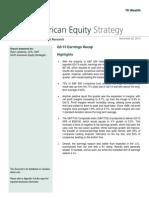 NA Equity Strategy (Q313 Earnings Recap) - November 22, 2013