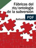 Fábricas del sujeto ontología de la subversión (3 primeros capítulos) - Antonio Negri