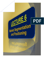 Chapt 6 - Marketing Segmentation and Positioning