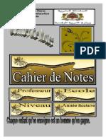 Couverture Cahier de Notes