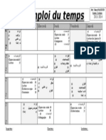 Emploi Du Tepms-4 Fran+Arabe
