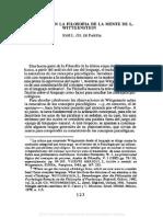 01. JOSÉ L. GIL DE PAREJA, El pensar en la filosofía de la mente de L.Wittgenstein