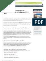 Hacer una presentación de diapositivas JPG para la web  JPE