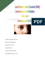 Communication Studies Sba