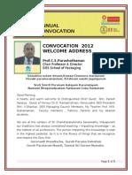 Convocation 2012 CSP Speech
