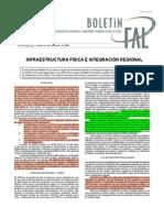 CEPAL. Infraestructura física e integración regional. 2009