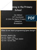 Programming in the Primary School
