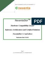 Nexenta Hardware Supported List