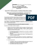 Guia 2 Escuela Influenza Filtros Sanitarios Definitivo 3sept2009