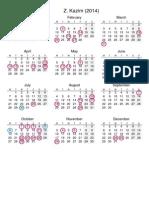 Calendar2014 for India