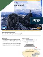 OpenSAP HANACLOUD1 Week 03 Advanced Persistency Features