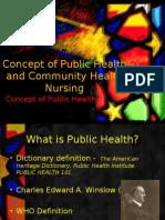 17162230 Concept of Public Health and Community Health Nursing
