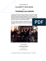 A critical report on SOLIDARITY BUILDING and NETWORKING with EUROPE