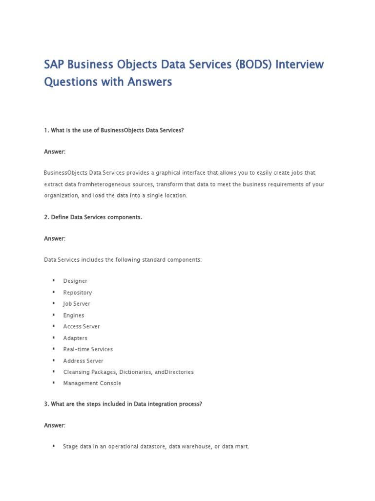 sap bods interview questions table database